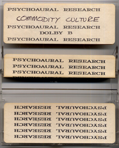 Psychoaural Research - Commodity Culture cover of release