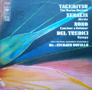 Toru Takemitsu - The Dorian Horizon / Akrata / Canciones A Guiomar /  Syzygy