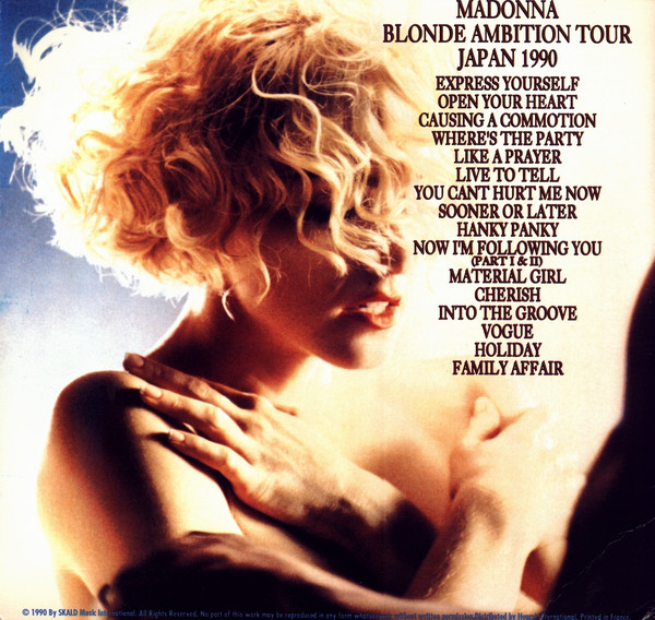 Madonna - Blonde Ambition Tour Japan 1990 cover of release