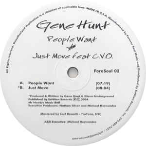 Gene Hunt - People Want / Just Move