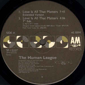 Human League, The - Love Is All That Matters