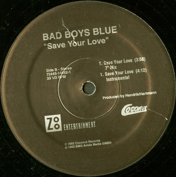 Bad Boys Blue - Save Your Love cover of release
