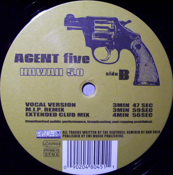 Agent Five - Hawaii 5.0 cover of release