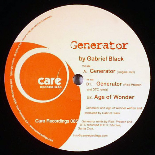 Gabriel Black - Generator cover of release