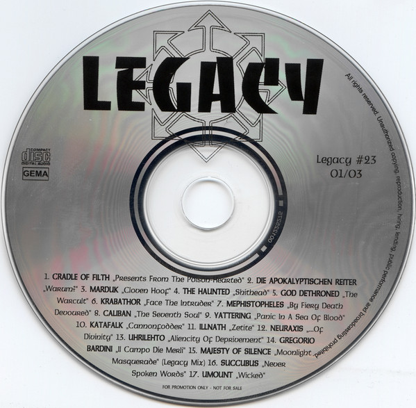 Various - Legacy 01/03 cover of release