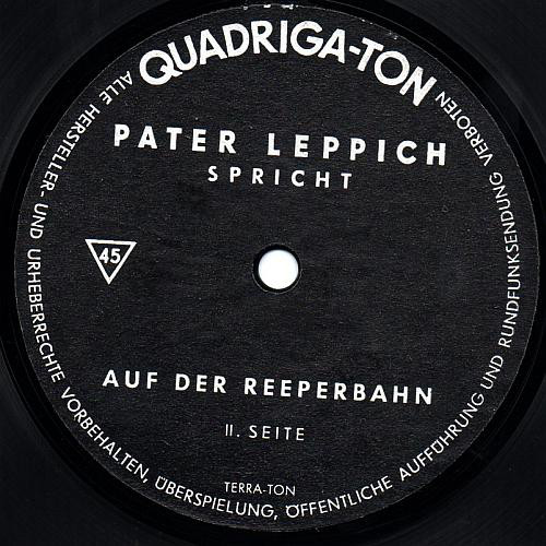 Pater Leppich - Spricht cover of release