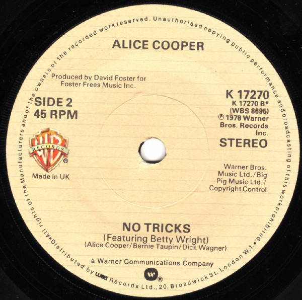 Alice Cooper (2) - How You Gonna See Me Now cover of release