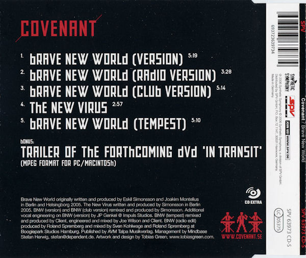 Covenant - Brave New World cover of release