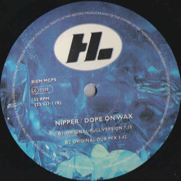 Nipper - Dope On Wax cover of release