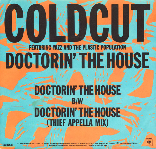 Coldcut, Yazz And The Plastic Population - Doctorin' The House cover of release