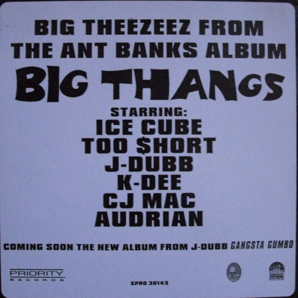 Ant Banks - Big Theezeez From The Ant Banks Album Big Thangs cover of release