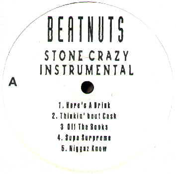 Beatnuts, The - Stone Crazy Instrumental LP cover of release