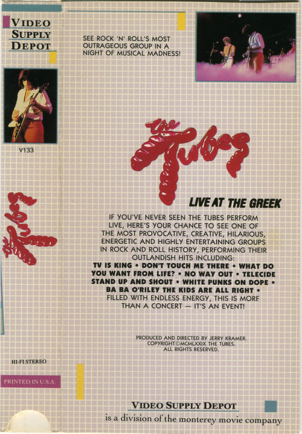 Tubes, The - Live At The Greek cover of release