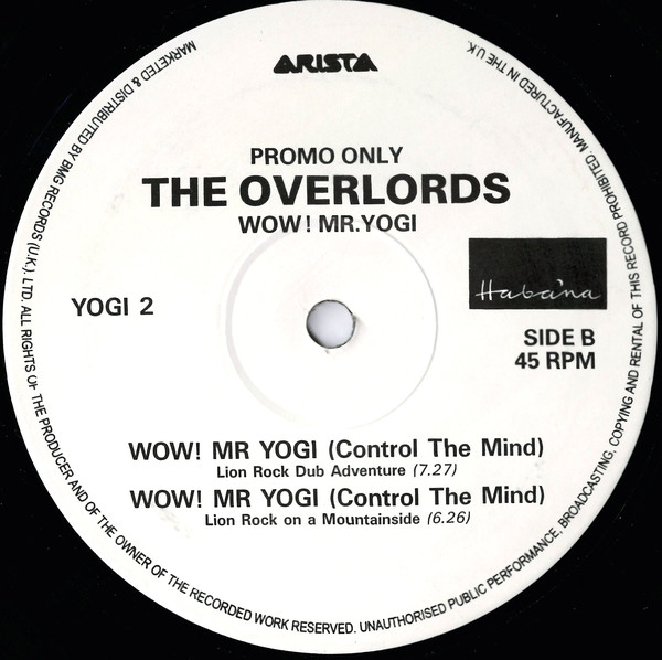 Overlords, The - Wow! Mr. Yogi cover of release