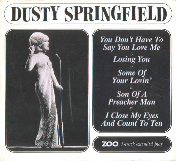 Dusty Springfield - 5-Track Extended Play cover of release