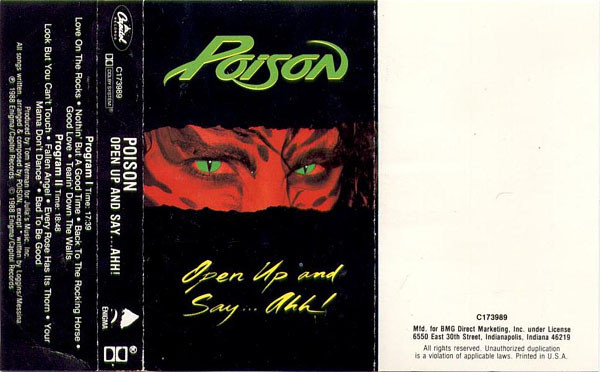 Poison (3) - Open Up And Say ...Ahh! cover of release