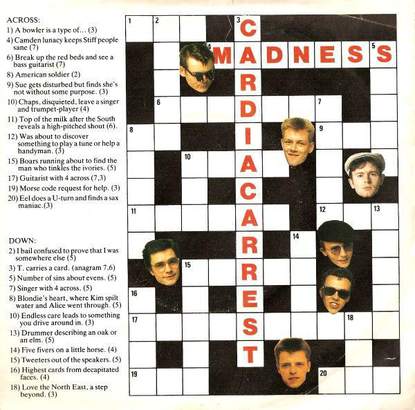 Madness - Cardiac Arrest cover of release