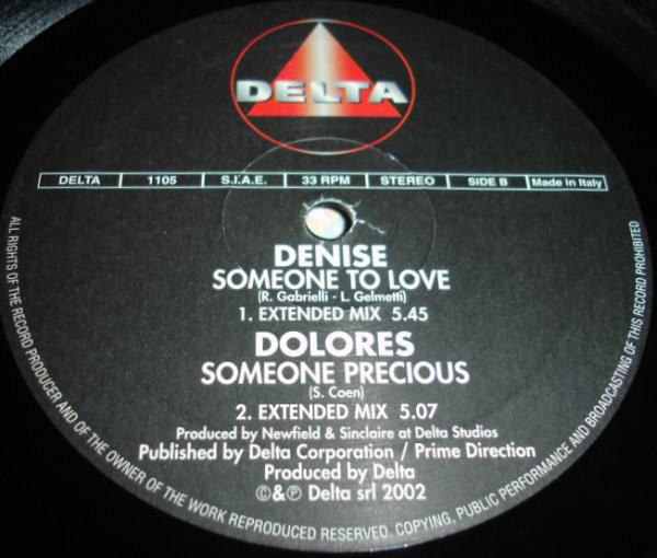 Sara (2), Virginia Toy, Denise (2), Dolores (4) - One More Time / Away From You / Someone To Love / Someone Precious cover of release