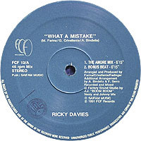 Ricky Davies - What A Mistake cover of release