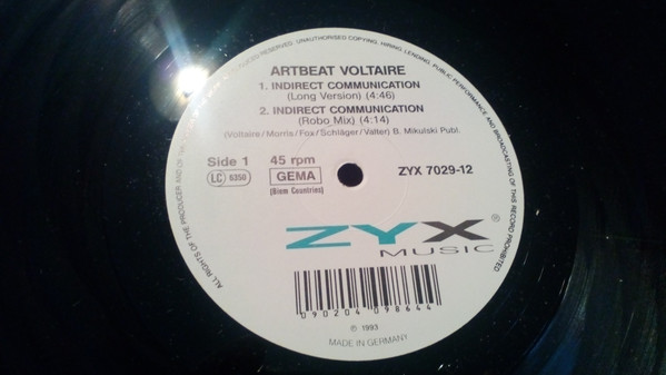 Artbeat Voltaire - Indirect Communication cover of release
