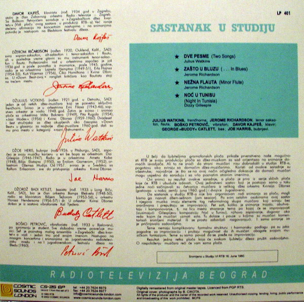 Various - Sastanak U Studiju (Meeting In Studio) cover of release