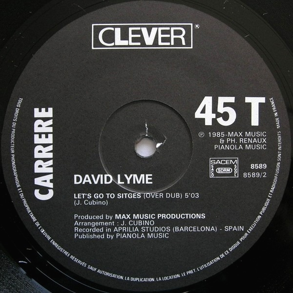 David Lyme - Let's Go To Sitges cover of release