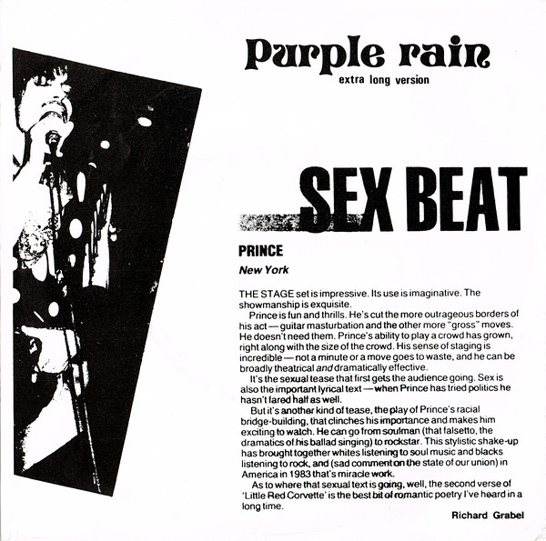 Prince - Live On Satelite! 30.5.85 cover of release