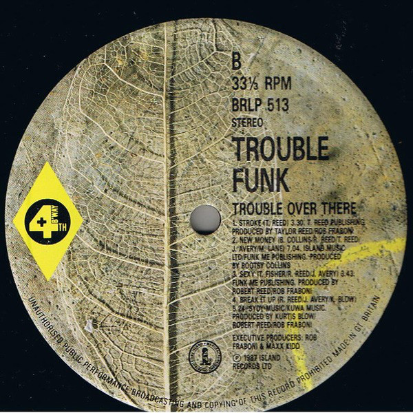 Trouble Funk - Trouble Over Here, Trouble Over There cover of release